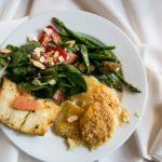 Catering Plate Atanaha salmon, salad and potatoes